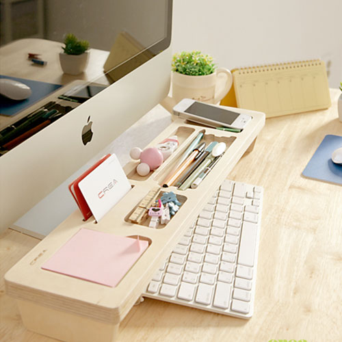 Wood Desk Organizer Stationery Case Storage Shelf Holder [grzxy6780015]